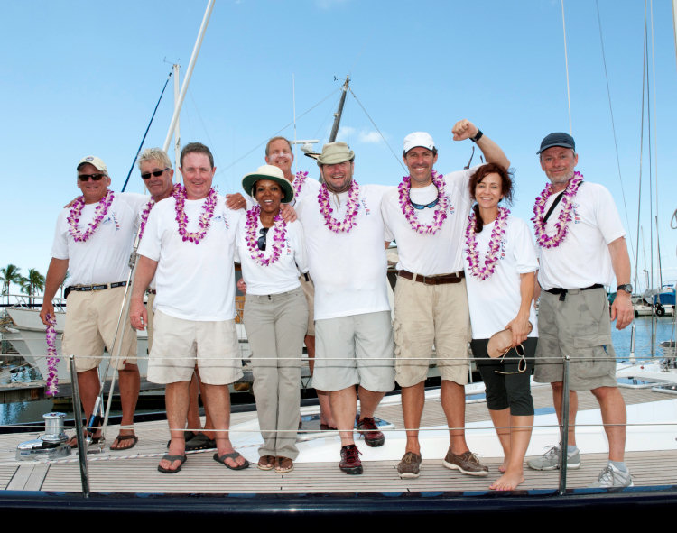 Manatea's happy crew after finishing Transpac 2013